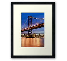 The Golden Gate At Night Framed Print