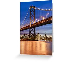 The Golden Gate At Night Greeting Card