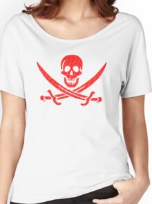 Pirate x Japanese Box Logo Women's Relaxed Fit T-Shirt