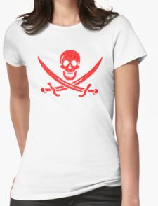 Pirate x Japanese Box Logo Womens Fitted T-Shirt