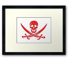 Pirate x Japanese Box Logo Framed Print
