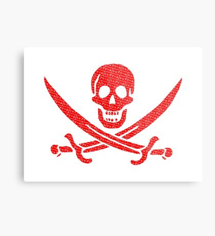 Pirate x Japanese Box Logo Metal Print