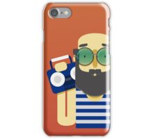 Man with music iPhone Case/Skin
