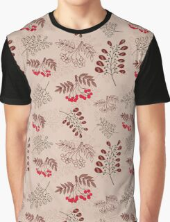 Seamless Pattern With Red Berries Graphic T-Shirt