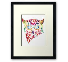 COLORFUL CANDY OWL Framed Print