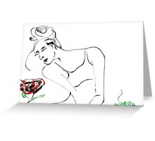 Smelling roses Greeting Card