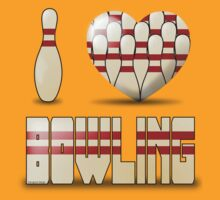I love bowling - pins by pokingstick