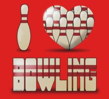 I love bowling - pins One Piece - Short Sleeve
