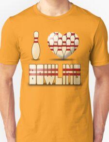 I love bowling - pins T-Shirt