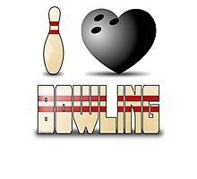 I love bowling - ball Photographic Print