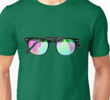 Colorful Sunglasses with Mirrored Lenses  Unisex T-Shirt