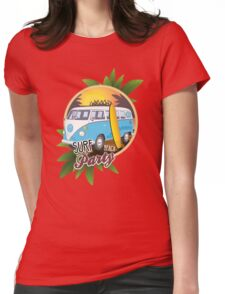 Volkswagen Camper - Surf Beach Party Womens Fitted T-Shirt