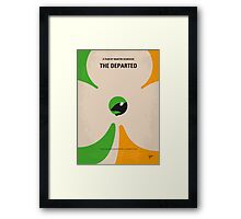 No506 My The Departed minimal movie poster Framed Print