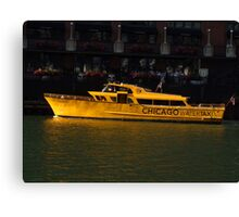 Chicago Water Taxi Canvas Print