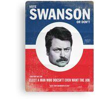Vote For Ron Swanson Canvas Print