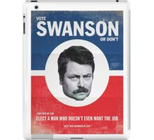 Vote For Ron Swanson iPad Case/Skin