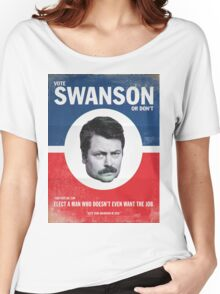 Vote For Ron Swanson Women's Relaxed Fit T-Shirt