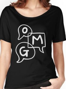 OMG Lettering Typography word expression  Women's Relaxed Fit T-Shirt
