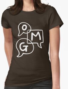 OMG Lettering Typography word expression  Womens Fitted T-Shirt