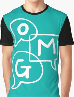 OMG Lettering Typography word expression  Graphic T-Shirt