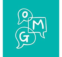 OMG Lettering Typography word expression  Photographic Print