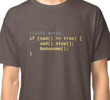 Life motto, a programmers life. Classic T-Shirt