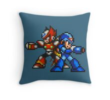 Megaman X And Zero Throw Pillow
