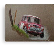 Mini Cooper Rally Car Canvas Print