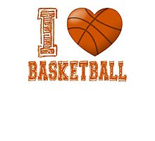 I love basketball Photographic Print