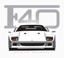 F40 Ferrari White One Piece - Short Sleeve