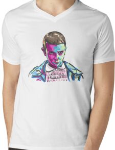 Eleven (11) - Stranger Things Mens V-Neck T-Shirt