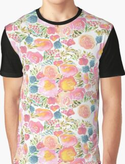 watercolor floral Graphic T-Shirt