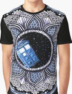 Tardis in space mandala Graphic T-Shirt