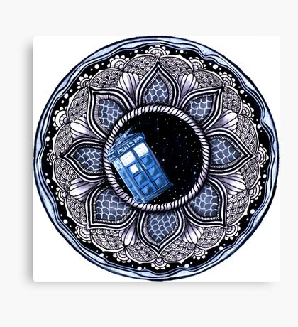 Tardis in space mandala Canvas Print