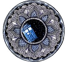 Tardis in space mandala Photographic Print