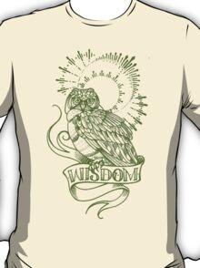 wisdom owl tattoo shirt T-Shirt