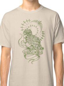 wisdom owl tattoo shirt Classic T-Shirt