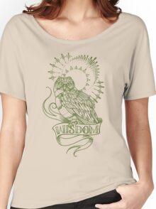 wisdom owl tattoo shirt Women's Relaxed Fit T-Shirt