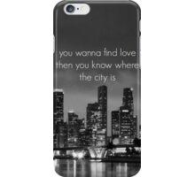 The 1975 The City Lyric iPhone Case/Skin