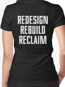 REDESIGN REBUILD RECLAIM Women's Fitted V-Neck T-Shirt