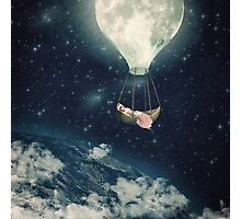 The Moon Carries Me Away Photographic Print