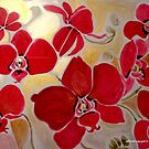 RED ORCHIDS FOR GAZA by Gea Austen