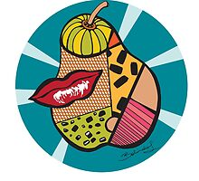 Pop Art Pear by Belinda Lindhardt