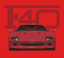 Ferrari F40 Red Kids Tee