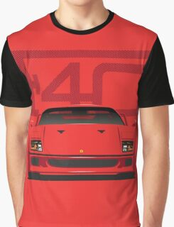 Ferrari F40 Red Graphic T-Shirt