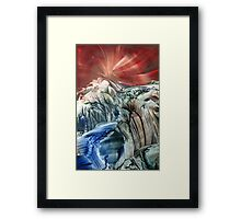 Morphing obscure horizons into shifting emotions Framed Print