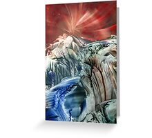 Morphing obscure horizons into shifting emotions Greeting Card