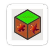 Own made Minecraft block Sticker