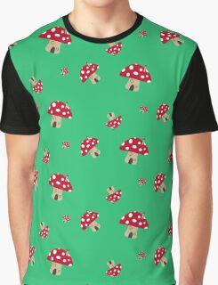 Mushroom House red and white   Graphic T-Shirt