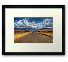 A Road Somewhere Framed Print